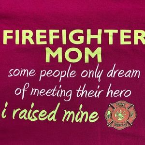 Firefighter Mom Tee t-shirt Plus Size Heros